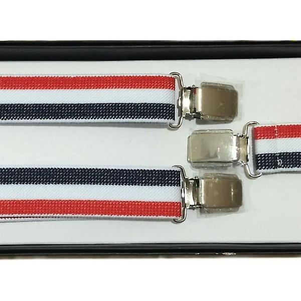 Union Jack Wear Adjustable Red, White And Blue Braces