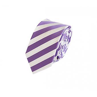 Cravate laine, cravate cravate 6cm mauve rayé blanc Fabio Farini