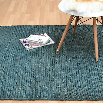 Jute Soumak Rugs In Teal