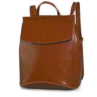 Backpack in genuine cow leather, 32x26x11 cm