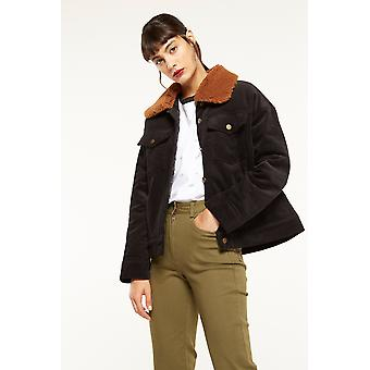 Side Party Corduroy Jacket With Shearling Collar