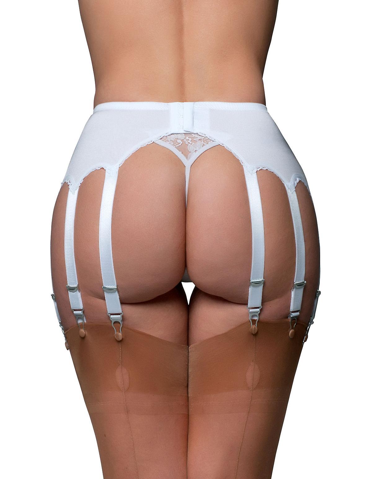 Nylon Dreams NDL13 Women's Garter Belt 12 Strap Suspender Belt