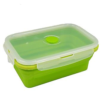 800ML Green Silicone Collapsible Food Storage Container Lunch Box TRIXES