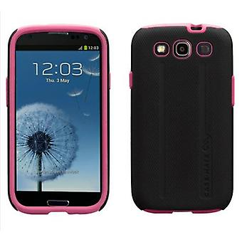 Case-Mate - Tough Case for Samsung Galaxy SIII Cell Phones - Pink/Black