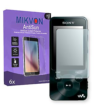 Sony NWZ-E585 Screen Protector - Mikvon AntiSun (Retail Package with accessories)
