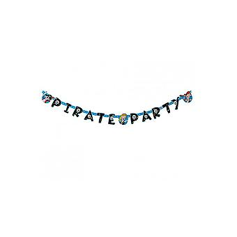 Party favors  Pirate Party deco garland 144x11cm