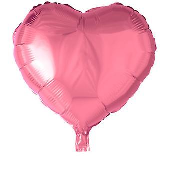 Hjerte-formet folie ballong-46 cm (18