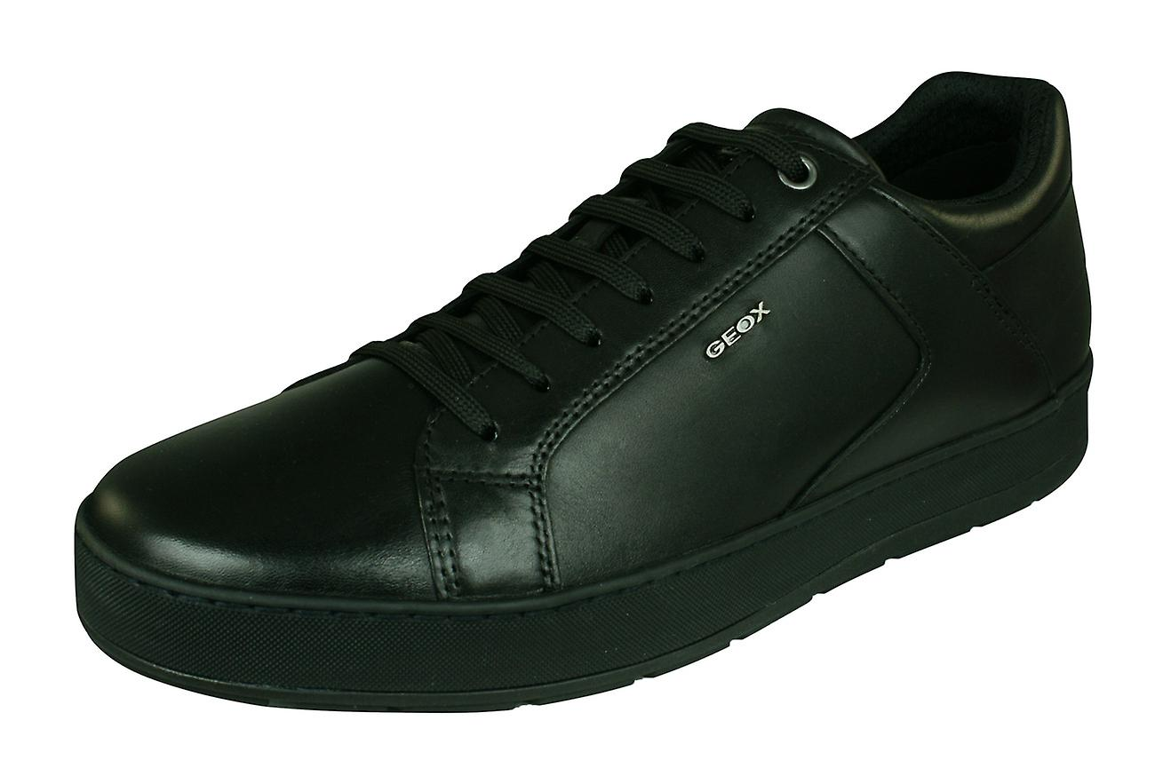 Geox U Ariam D Mens Leather Trainers   chaussures - noir