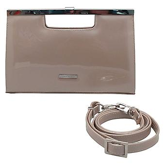 Peter Kaiser Patent Clutch Bag With Shoulder Strap