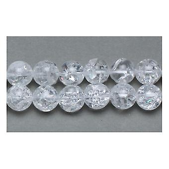 Strand 45+ Clear Rock Crystal Quartz 8mm Plain Round Beads GS11044-1