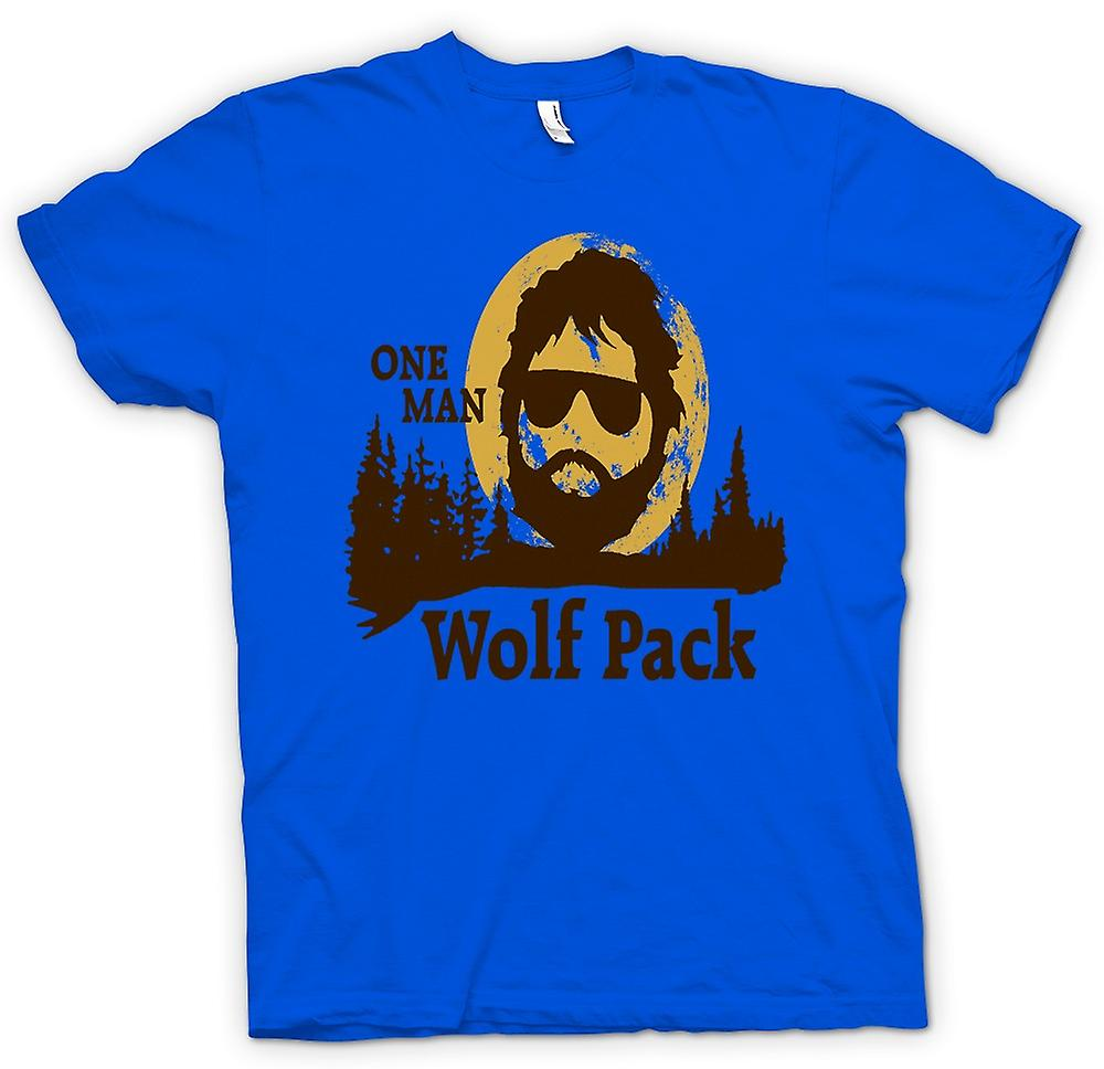 Herren T-Shirt - The Hangover One Man Wolf Pack - Lustige