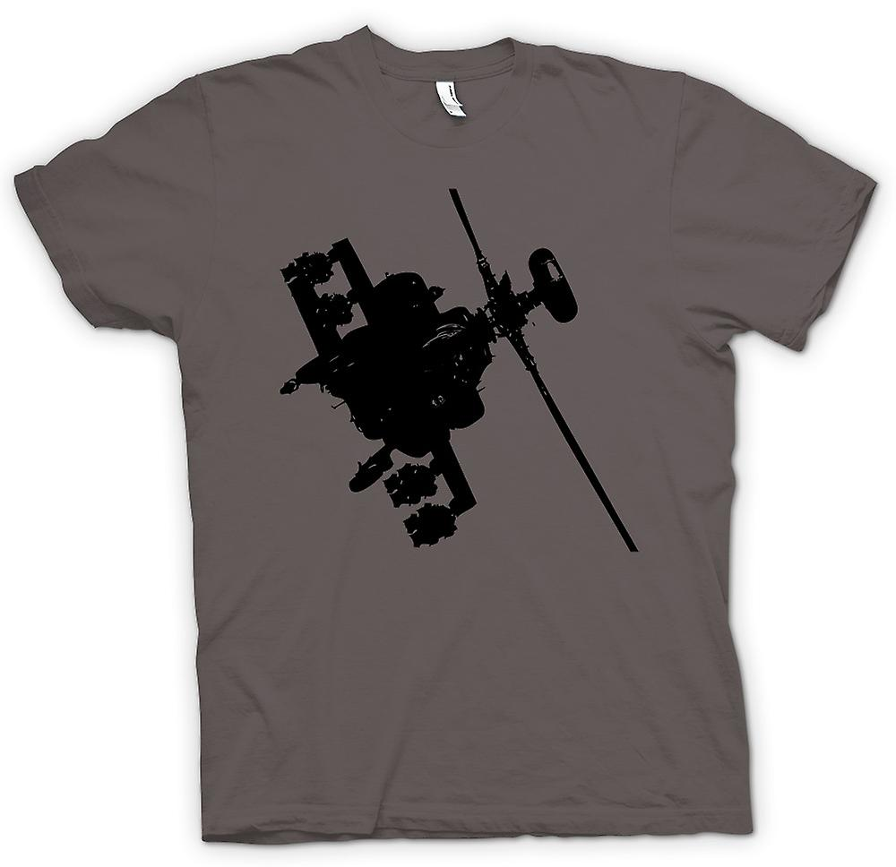 Mens T-shirt - Apache Helicopter Flying - War