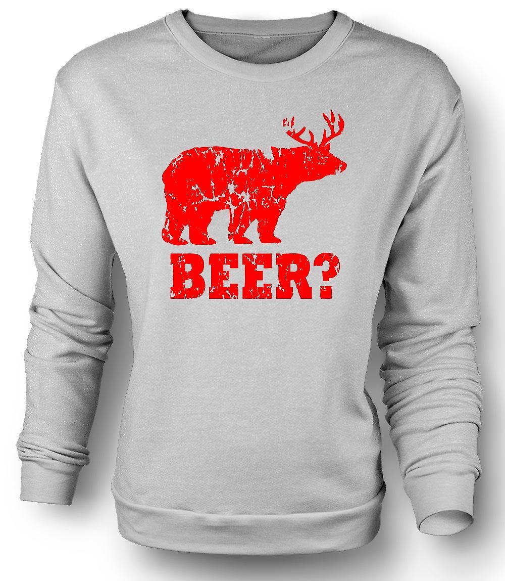 Mens Sweatshirt Bier - lustig
