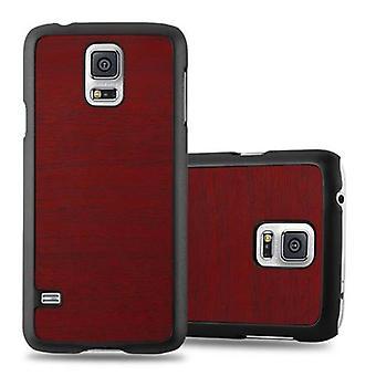 Cadorabo luva para Samsung Galaxy S5 / capa NEO S5 - capa de telefone caso difícil na ótica de madeira vintage - para-choques traseiros tampa da caixa