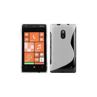 Cadorabo Hülle für Nokia Lumia 620 Case Cover - Handyhülle aus flexiblem TPU Silikon – Silikonhülle Schutzhülle Ultra Slim Soft Back Cover Case Bumper