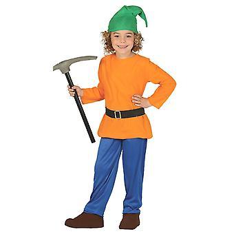 Chłopcy lasu karzeł Gnome Fancy Dress kostium