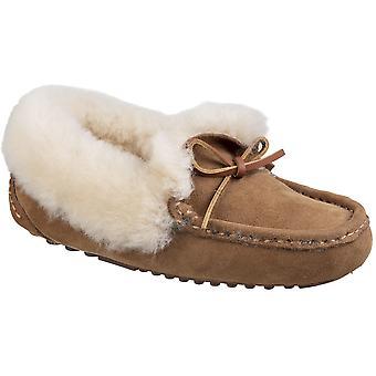 Cotswold Womens Greenend Slip gezellige pantoffels van schapenvacht