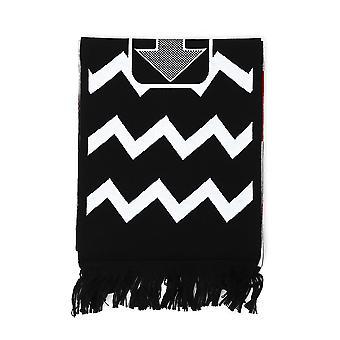 Stella Mccartney White/black Wool Scarf