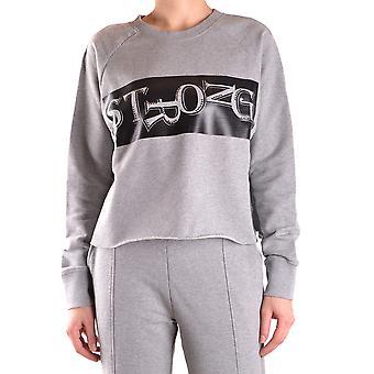 Pinko Grey Cotton Sweatshirt