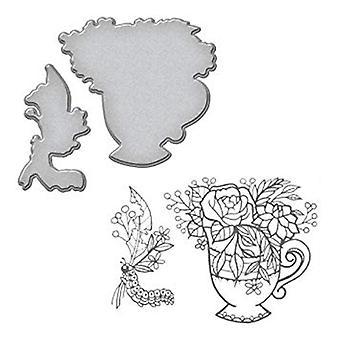 Spellbinders Teacup Stamp And Die Set (SDS-064)