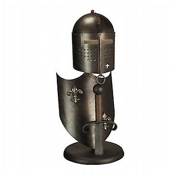 Medieval Styled Burnished Bronze Table Lamp