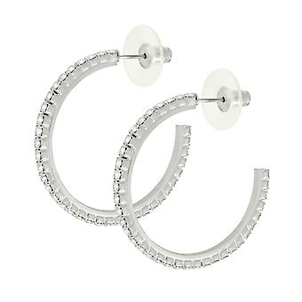 Éternelle Collection Diamante fermoir Hoop boucles d'oreilles