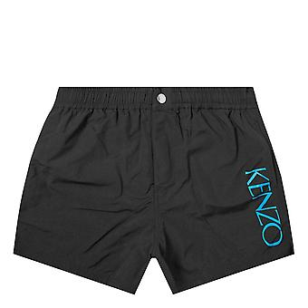 肯佐侧标志游泳短裤黑色