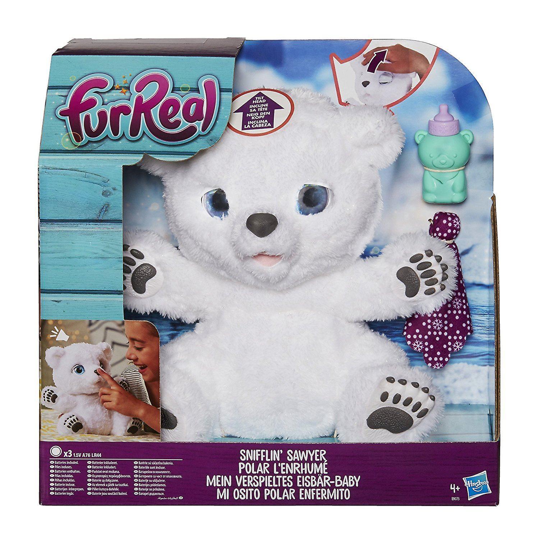 Furreal Snifflin& 039; Sawyer Polar Bear