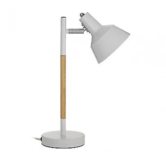 Premier Home Bryson vit trä/metall bordslampa, trä, vit