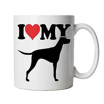 Ich liebe meine ungarische Vizsla Becher | Hund Geschenk Pelz Baby Lover Besitzer Mans beste Freundin | Crufts Hund Show Kennel Club Pedigree Rasse Welpen | Hunde Cup Geschenk