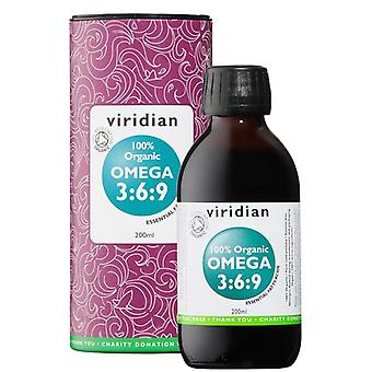 Viridian 100% Organic Omega 3:6:9 Oil 200ml (502)