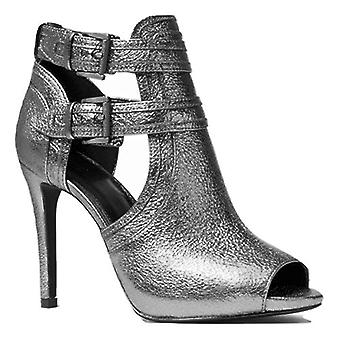 Michael Michael Kors Blaze Metallic Leather Open-Toe Bootie 7.5
