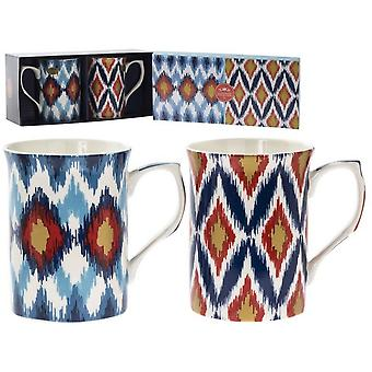 Tribal Mugs (Set Of 2)