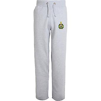 Kings Own Scottish Borderers - Licensed British Army Embroidered Open Hem Sweatpants / Jogging Bottoms