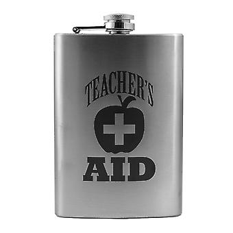 8oz teacher's aid flask l1 fun silly novelty