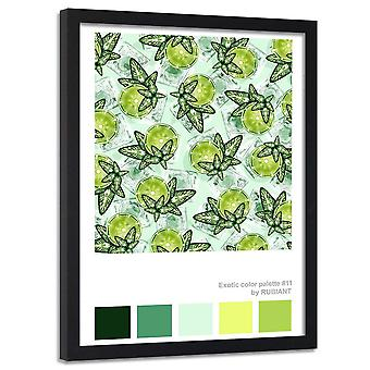 Poster In Frame, Lime With Mint