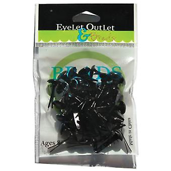 Eyelet Outlet 8Mm Brads Black Brd8mm 292C
