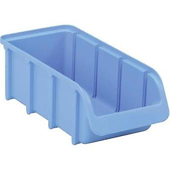 Alutec Semi Open Fronted Plastic Storage Container (Size 2L, Blue) Blue (L x W x H)