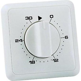 Flush mount timer/power strip analogue 24 h mode Wallair 20100249 3680 W IP20 2-phase