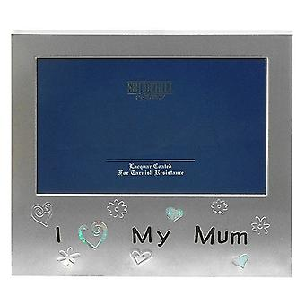 I Love My Mum Silver Colour Photo Frame Christmas Birthday Mothers day Gift