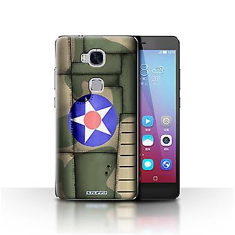STUFF4 Case/Cover for Huawei Honor 5X/GR5/America/Green/Airplane Fighter Wing