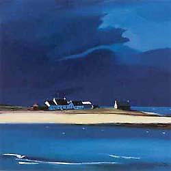 Pam Carter print - The Row, Tiree