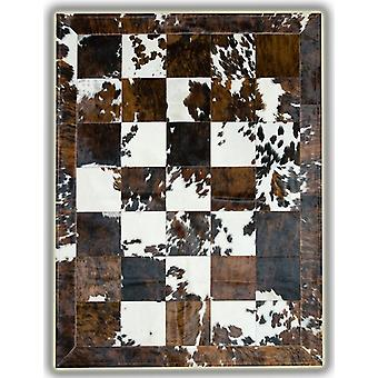 Rugs - Patchwork Cubed Cowhide - Normandy Cow with Border
