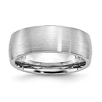 コバルト クロム半丸彫刻用サテン 8 mm バンド リング - 指輪のサイズ: 7 に 13