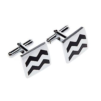 Frédéric Thomass Galileo Black Silver cufflinks