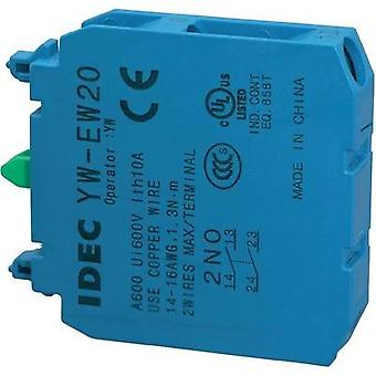 Contact 2 makers momentary 240 Vac Idec IDEC YW Serie 1 pc(s)