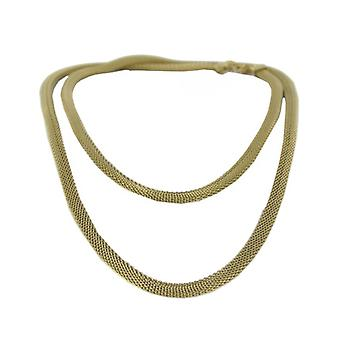 Skagen ladies chain necklace silver stainless steel mesh gold JNSG037L