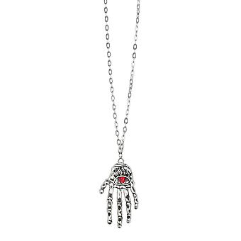 Halloween Ruby Claw/ Hand Necklace Fancy Dress Accessory