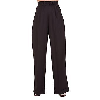 Dancing Days Black Hidden Away Trousers XL