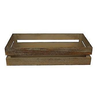Small Oak Effect Wooden Packing Crate